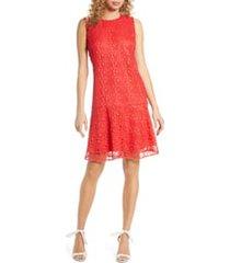 women's sam edelman circle lace drop waist dress, size 14 - orange
