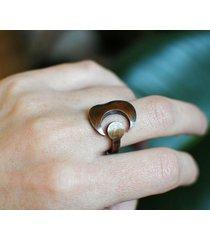 miedziany pierścionek księżyc