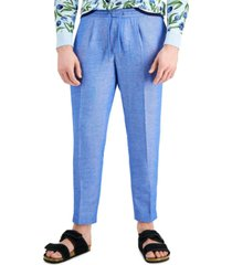 inc international concepts men's slim-fit chambray tapered pants, created for macy's