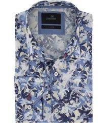 vanguard overhemd blauw dessin