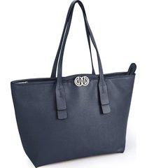 bolsa sacola grande logo duplo soft azul - kanui