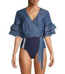 wrap cover-up top