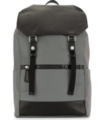 shanghai tang jubilee leather reflective backpack - grey