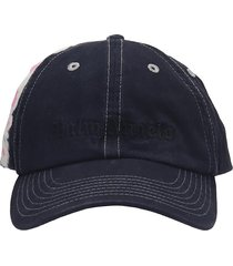 palm angels hats in black cotton