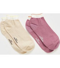 becksöndergaard 2-pack mix sock w.13 ankelsockar
