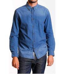 camisa denim print