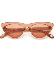 006 clear sunglasses in peach