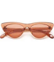 006 clear sunglasses in peach