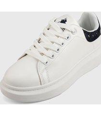 tenis blanco-azul-plateado royal county of berkshire polo club