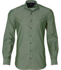 city line by nils overhemd - bodyfit - groen