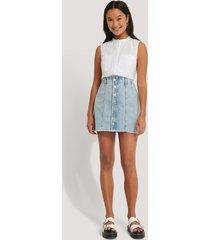 mango kjol med knappar - blue