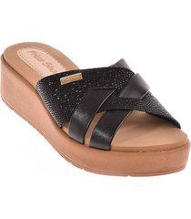 priceshoes sandalia confort dama 752anitanegro