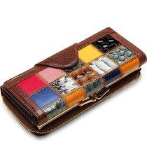 donna cluche in pelle vera borsetta portafoglio