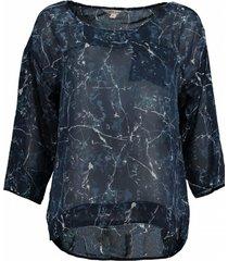 garcia polyester blouse shirt 3/4 mouw