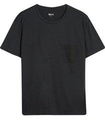 camiseta descanso hombre unicolor color negro, talla l