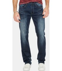 buffalo david bitton men's driven-x relaxed straight fit washed jeans
