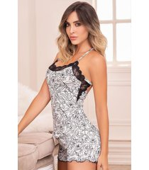 pijama mujer conjunto short estampado 11446