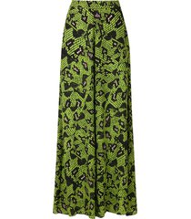 eva cobra printed wide trousers - green