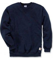 carhartt trui men midweight crewneck sweatshirt new navy-l
