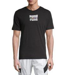 puma men's core international graphic t-shirt - black - size xxl