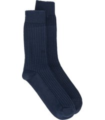 thunders love link chunky knit socks - blue