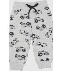 pantalón de buzo básico gris melange bebo corona