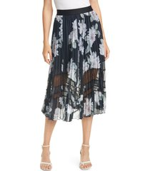 women's ted baker london culsa clove metallic floral pleated skirt