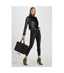 calca jeans basic high skinny jeans - 44