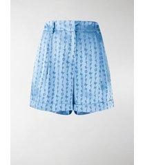 off-white jacquard logo shorts