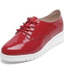 zapato oxford rojo beira rio