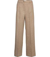 bottomsup wool trouser 20-04 pantalon met rechte pijpen beige holzweiler
