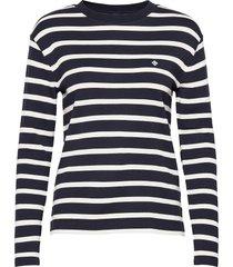 d1. breton stripe ls top t-shirts & tops long-sleeved blauw gant