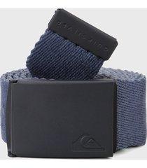 cinturón doble faz gris-azul-negro quiksilver the jam