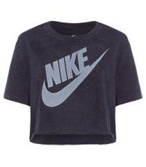 camiseta cropped sportwear futura - preto