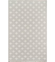 "novogratz topanga top-1 gray 5' x 7'6"" area rug"