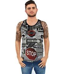 camiseta ramavi regata stop preta