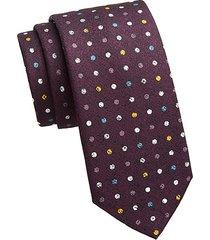 collection polka dot silk print tie
