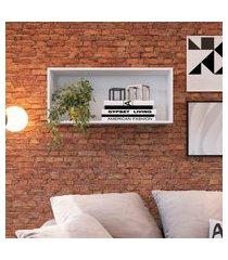 nicho decorativo de parede art in móveis ae080 funcionale 82cm