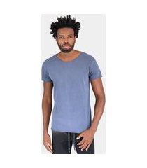 camiseta jay jay premium azul stone corte a fio lisa