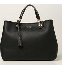 emporio armani tote bags emporio armani bag in textured synthetic leather