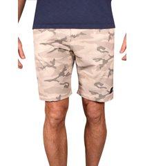 vintage 1946 men's print hybrid flat front shorts, size 34 in desert at nordstrom