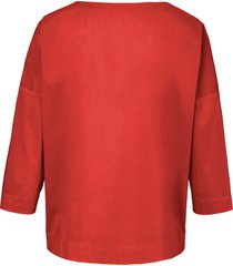 shirt verbrede schouders en 3/4-mouwen van day.like oranje