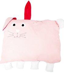 travesseiro colo de mãe coelho + fronha rosa