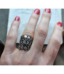 fazy księżyca - srebrny pierścionek