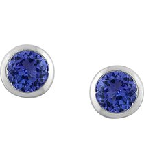 effy women's 14k white gold & tanzanite stud earrings