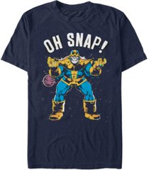 marvel men's comic collection thanos oh snap short sleeve t-shirt