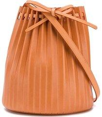 mansur gavriel plissettata pleated bucket bag - neutrals
