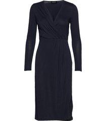 slfle -sara 7/8 midi modal dress b dresses bodycon dresses blå selected femme