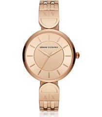 armani exchange designer women's watches, brooke rose gold tone bracelet watch