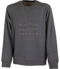 brunello cucinelli crewneck cotton sweatshirt with writing